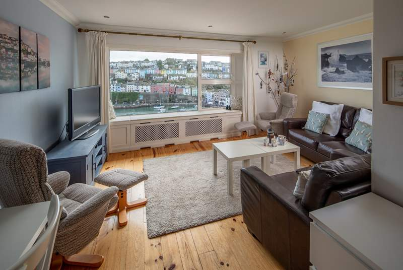 The comfortable living area is great to relax in whilst enjoying the world pass by.