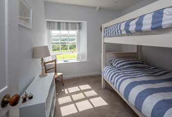 The bunk room, suitable for children and adults alike.