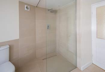 The family bathroom is home to this fabulous luxury shower.