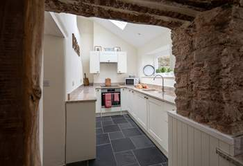 Beautiful original stonework can still be seen at this fabulous cottage.