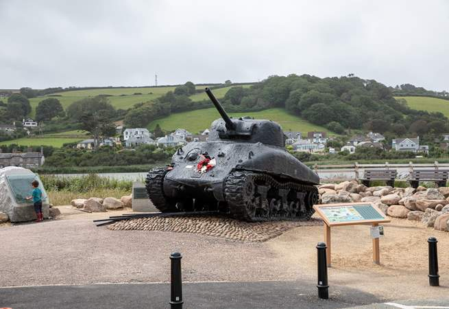 The glorious Slapton Sands is steeped in history and is only a very short car drive away.