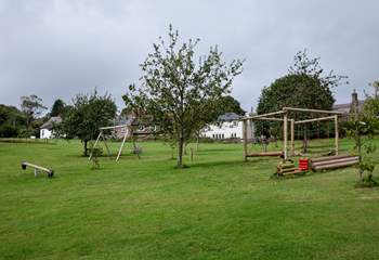 Just across the way from you is this fabulous park and play area. Perfect for the little ones. You can actually catch a glimpse of Rose Cottage in the background.