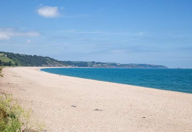 The beautiful Slapton Sands beach.