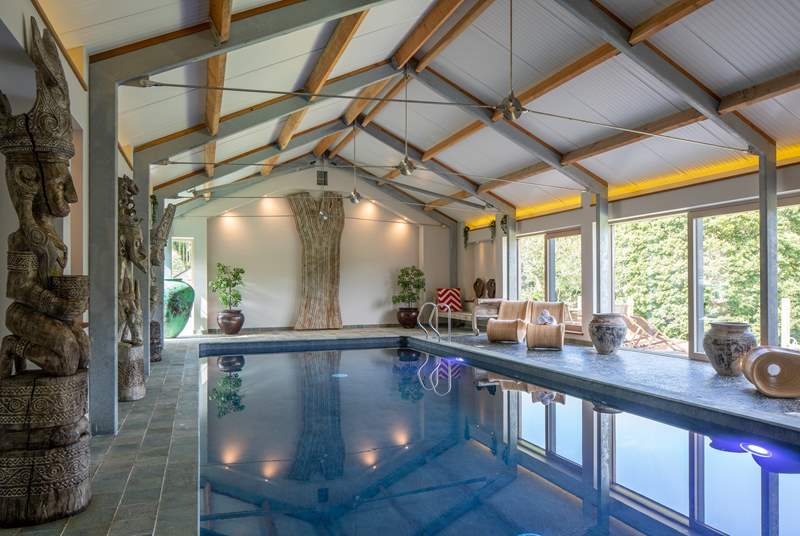 Fabulous indoor heated swimming pool.