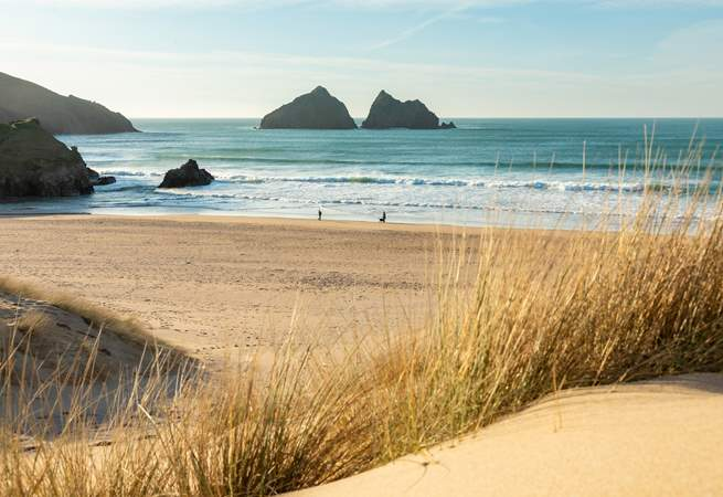 Holywell Bay is just along the coast.