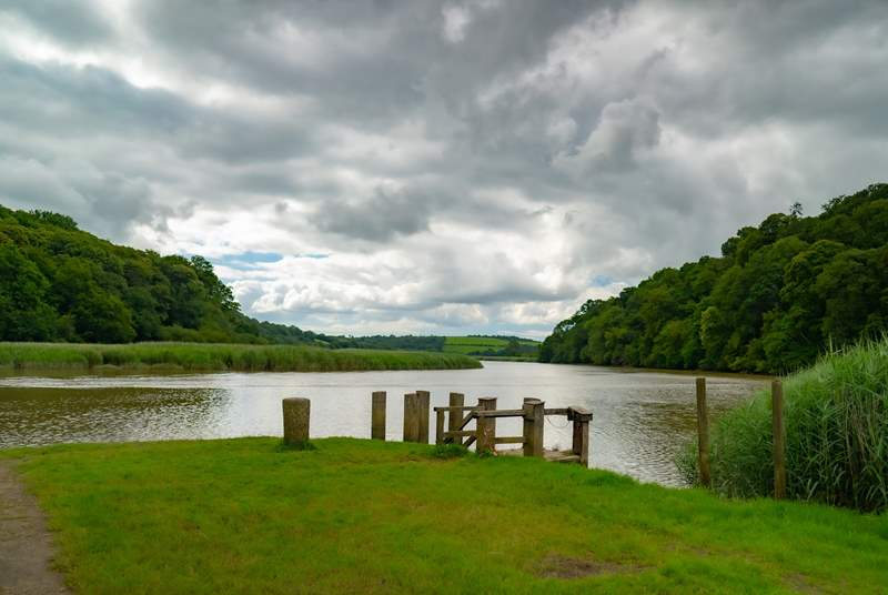 The quay at Cotehele is a walkers' reward and a view to enjoy.