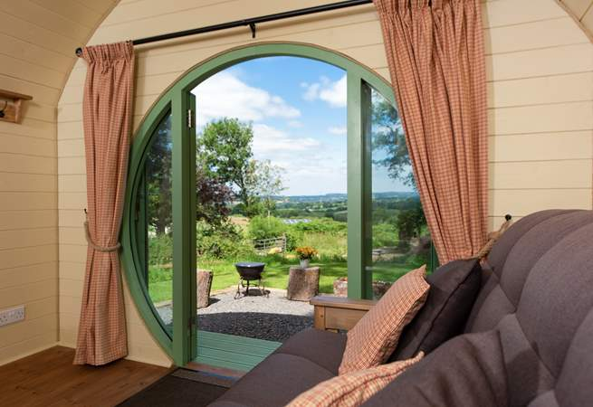 With the most spectacular views across open countryside.