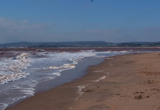 There is a huge sandy beach at Exmouth too.