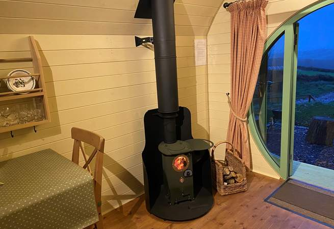 The warming wood-burner is a new addition for November 2020 and will ensure cosiness all year-round.