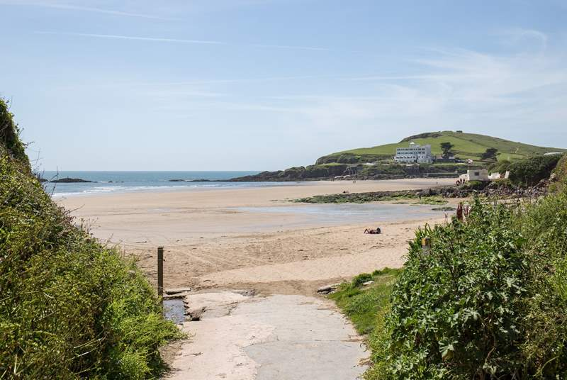 The access to Bigbury Beach is literally on your doorstep.
