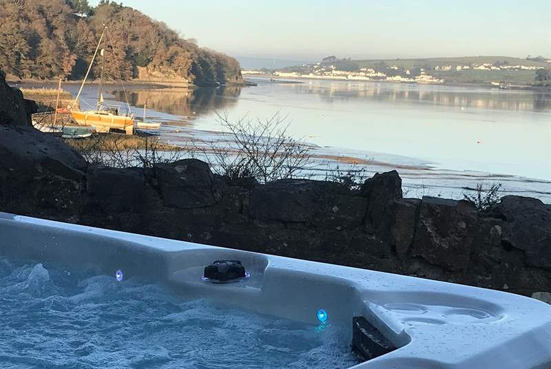 Why not sit back take in the view and enjoy the wonderful hot tub.