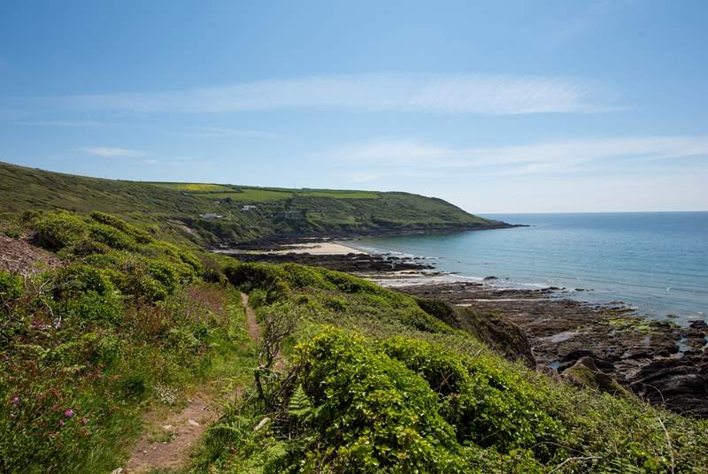 From your front door you can head to the coast path and find beaches and hidden coves to enjoy no matter the season.
