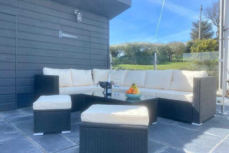 Step out of the kitchen patio doors and enjoy this perfect seating area.  Soak in the view after a day of exploring or listen to the dawn chorus as the family sleeps.