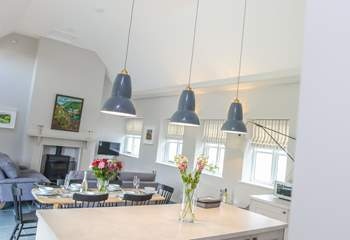 The kitchen has been designed to fit with the open plan layout.