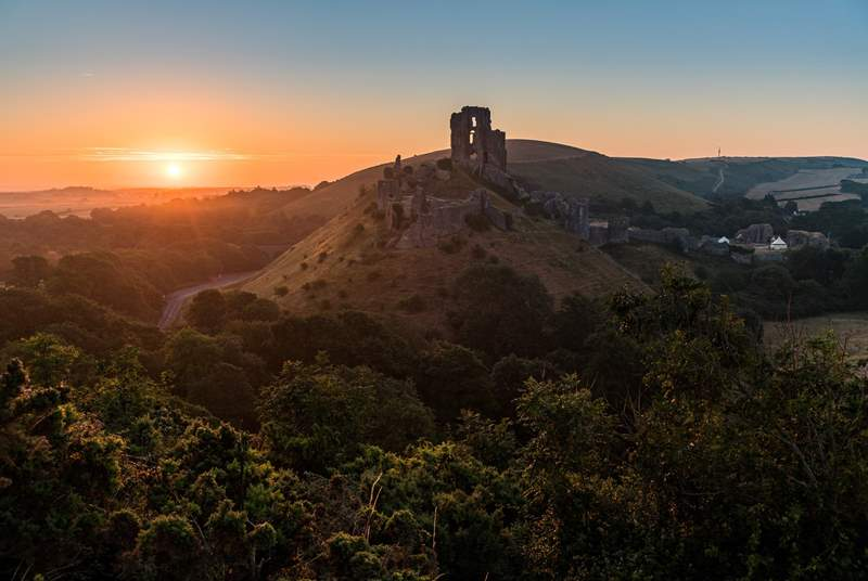 Corfe Castle is a 45 minute drive away but certainly worth the trip.