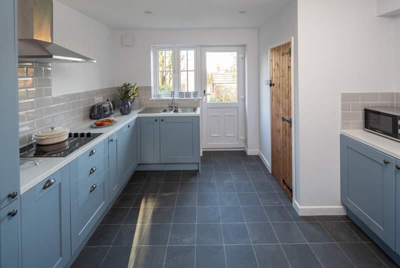A very stylish kitchen awaits the chef!