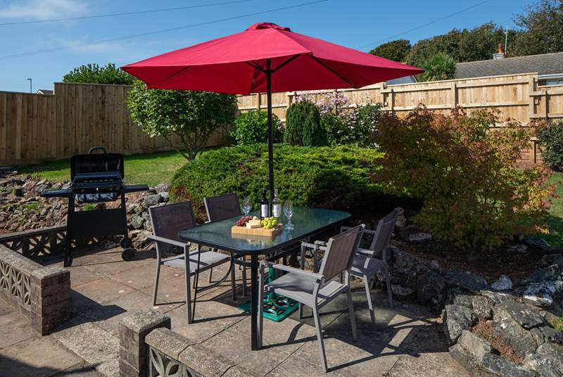 A lovely outside space to enjoy a barbecue in the sun.