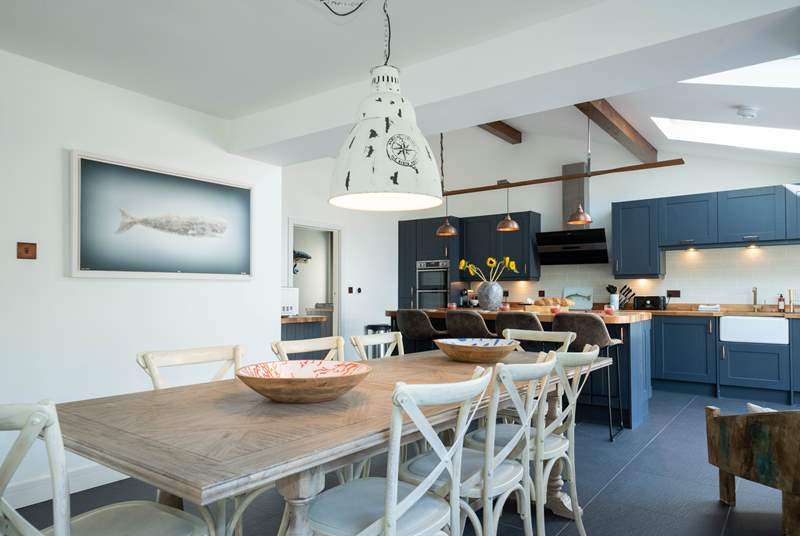 The stylish and divine kitchen/dining-room is at the heart of the property.