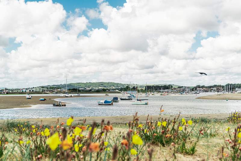 The Isle of Wight is surrounded with wonderful walking trails for you and your dog, why not admire Bembridge Harbour!