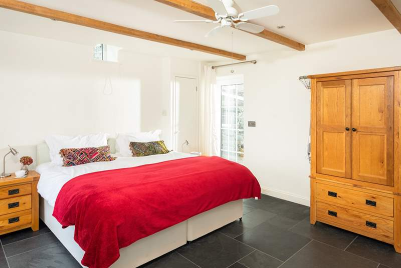 The annexe is lovely and light, the bed can be set up as either a super-king or twins (Bedroom 5).