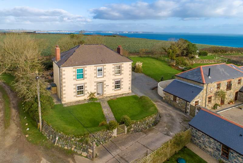 Situated on the grassy cliffs set above the village of Porthallow to the east side of the Lizard peninsula, with stunning views across fields down the St Keverne valley and over the sea to Falmouth Bay and the English Channel.