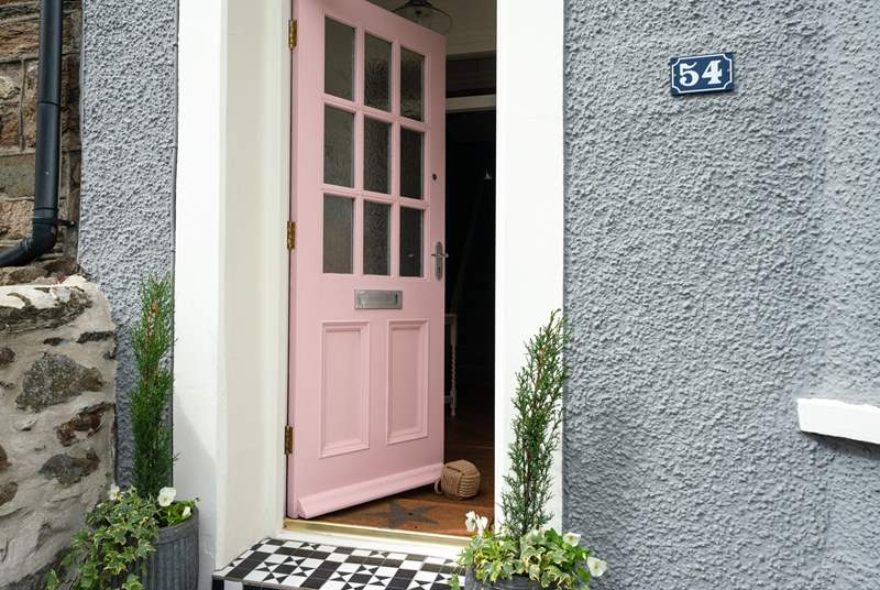Step into Pink Door at 54.