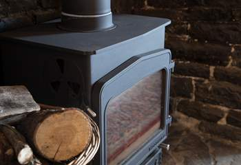 The wood-burner will be ready for your arrival, with its first basket of logs.