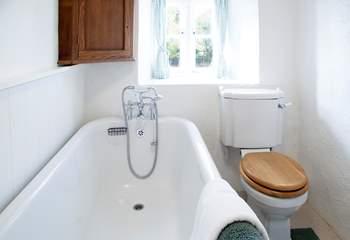 Enjoy a soak in the bath whilst enjoying the view.