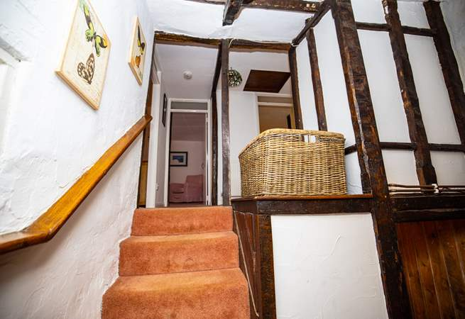 Young children should be supervised when upstairs owing to the open nature of the landing in this lovely old cottage.