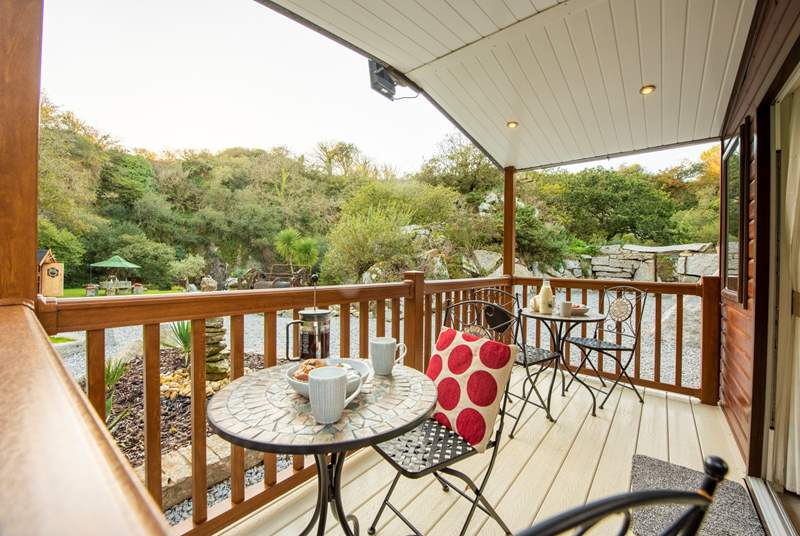 Breakfast on the deck is a must.