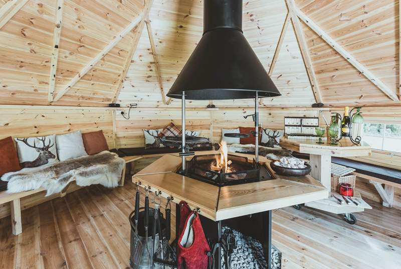 The stylish and oh-so-cosy woodfired barbecue hut