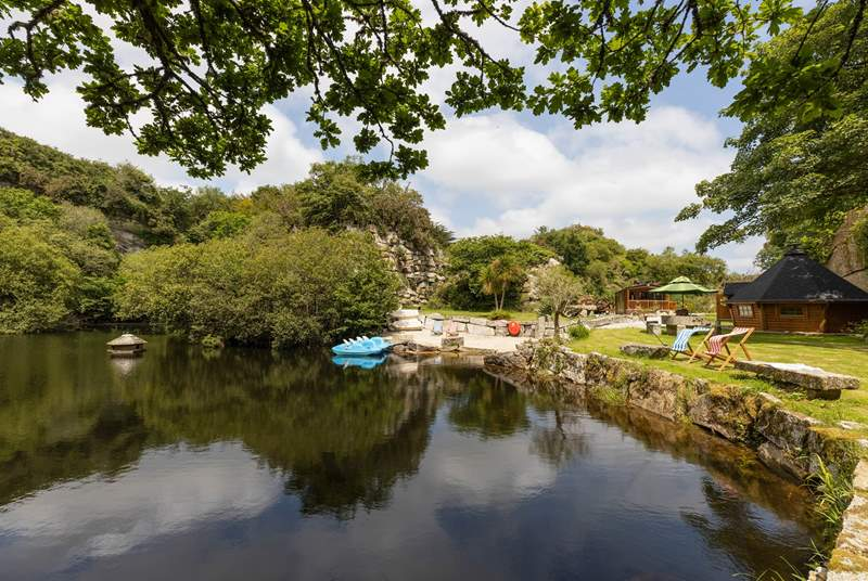 Hidden away in an old quarry near the Helford Passage in Cornwall, this Unique hideaway can only be described as something out of the ordinary.