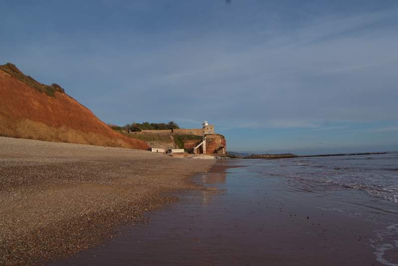 You can be at the East Devon Jurassic Coast in just under an hour. This is Sidmouth.