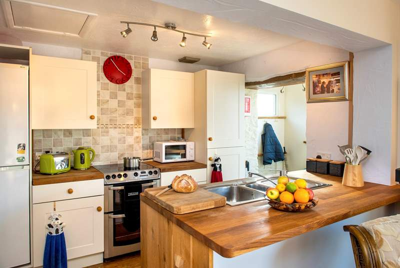 The kitchen-area has all the essentials, should you want to do any cooking whilst on holiday.