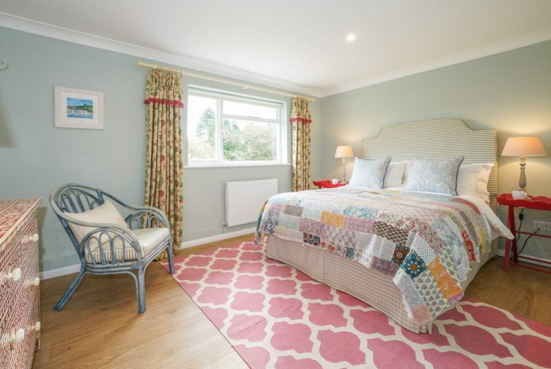 The main bedroom has its own quirky style setting a cosy mood as soon as you walk in.