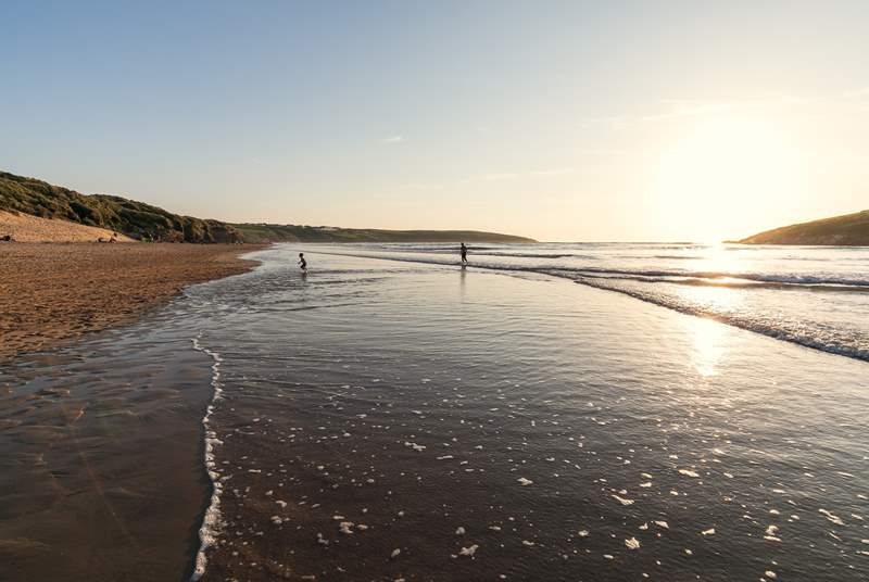 Take a walk along one of the many nearby beaches, and watch the sunset.