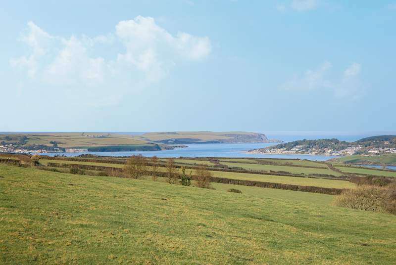 The glorious view of The Camel Estuary from Carthew Barn.