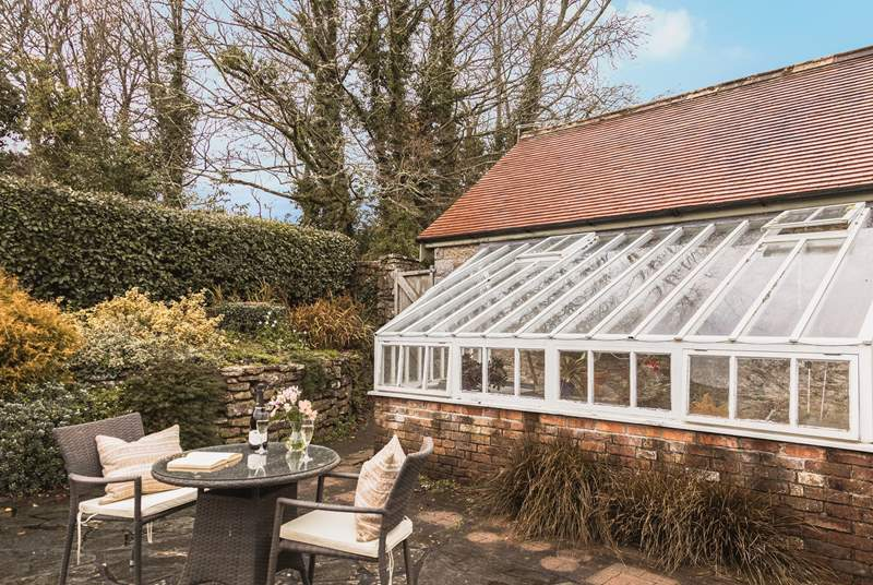 The owner occasionally checks on the plants in conservatory but you are welcome to use the recliners to sit and relax outside this lovely glass house.