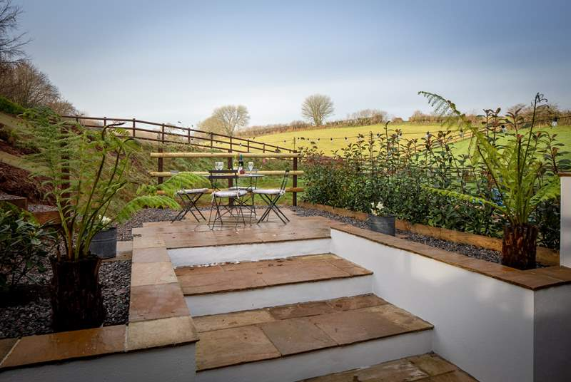Your raised patio area has beautiful views over the rolling Devon countryside.