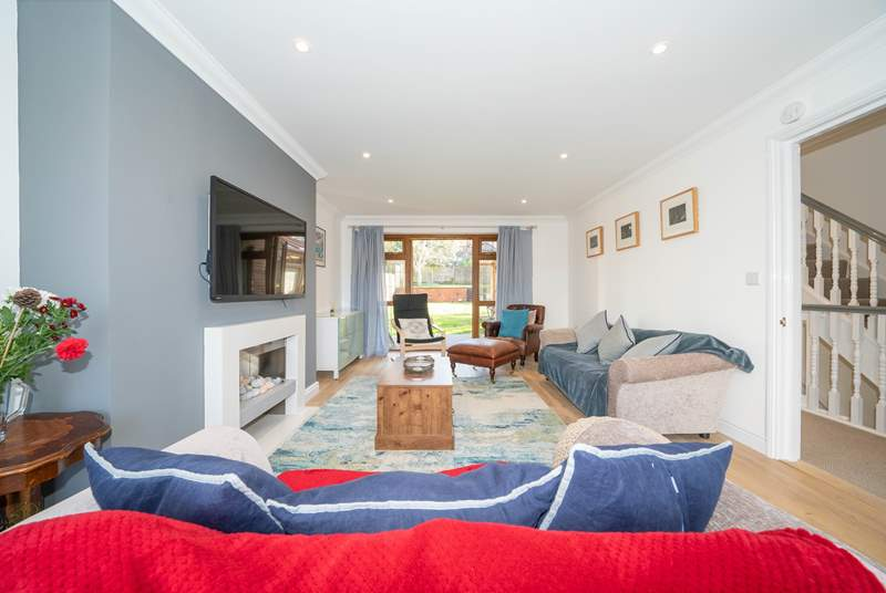 The sitting-room on the first floor boasts style with elegant features throughout.