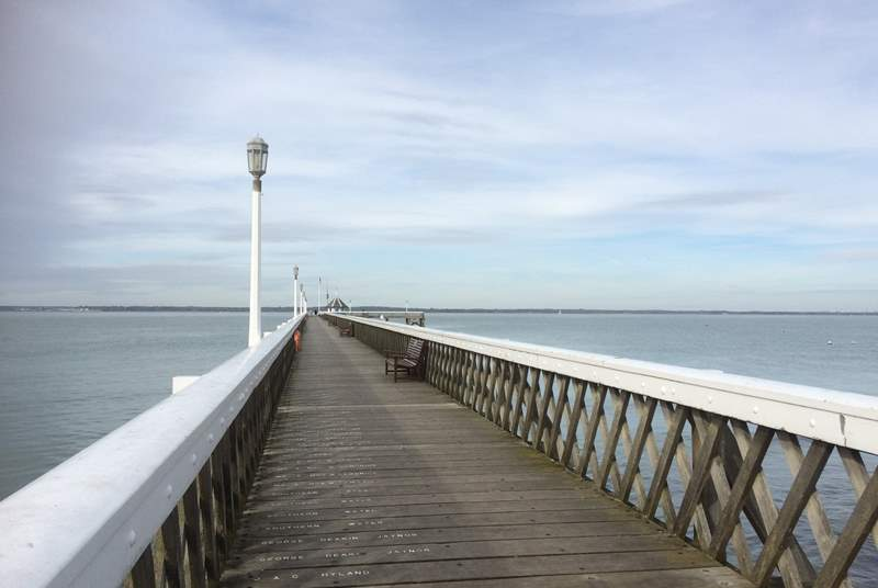 Yarmouth is a short drive from Freshwater with views across the Solent.
