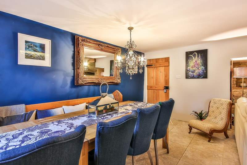 The dining-area is the perfect space for the family to come together.