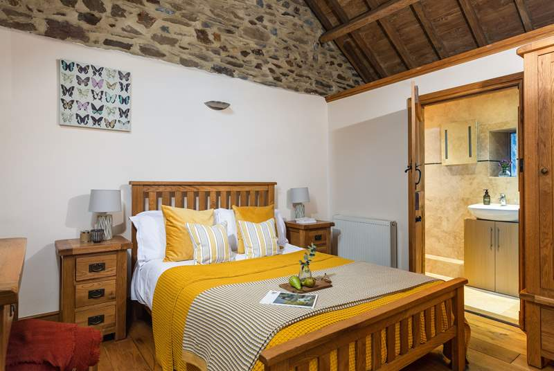 The main bedroom offers character and charm and enjoys an en suite shower-room.
