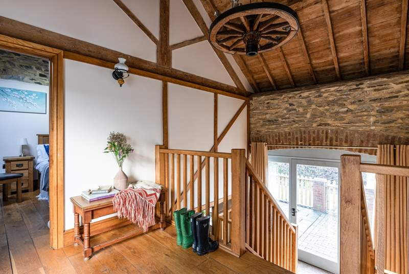 From the top courtyard you enter the barn on the first floor with both bedrooms off to each side.