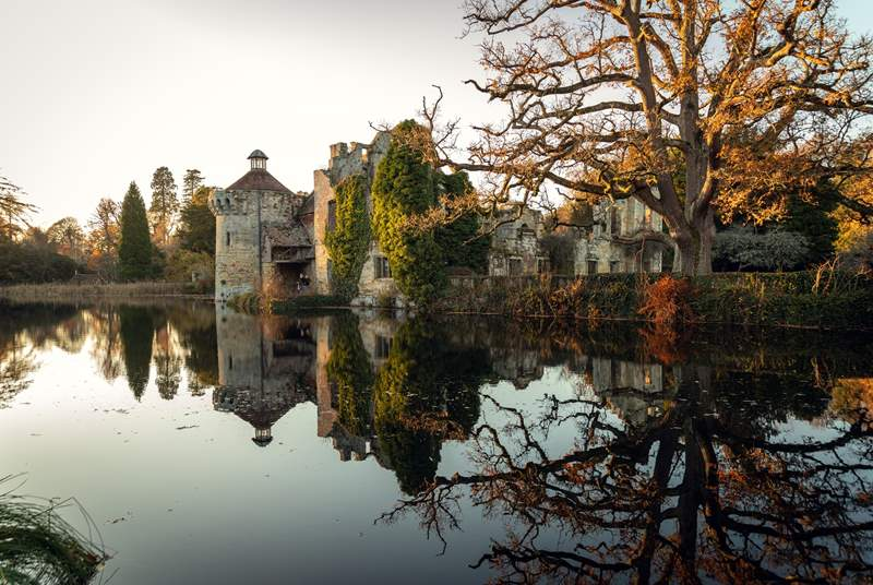 Visit Scotney Castle in Kent with its working hop farm and romantic garden.