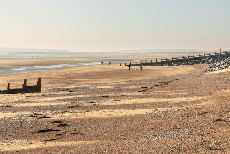 Enjoy the wonderful sandy beach of Camber Sands near Rye.