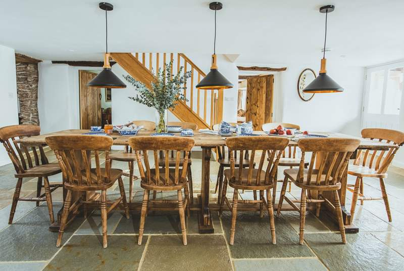 Spend time around the farmhouse table with family and friends.