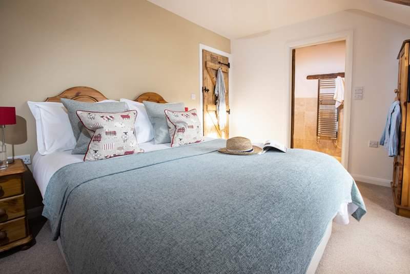 One of the beautiful en suite bedrooms,.