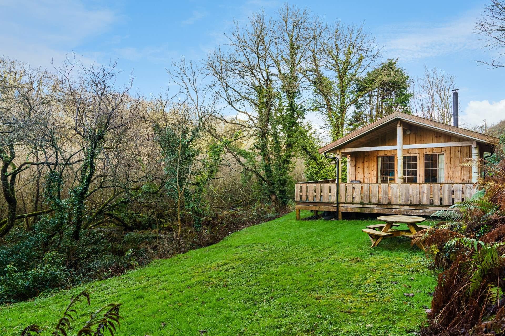 Log cabin at Cwm yr Eglwys, Pembrokeshire