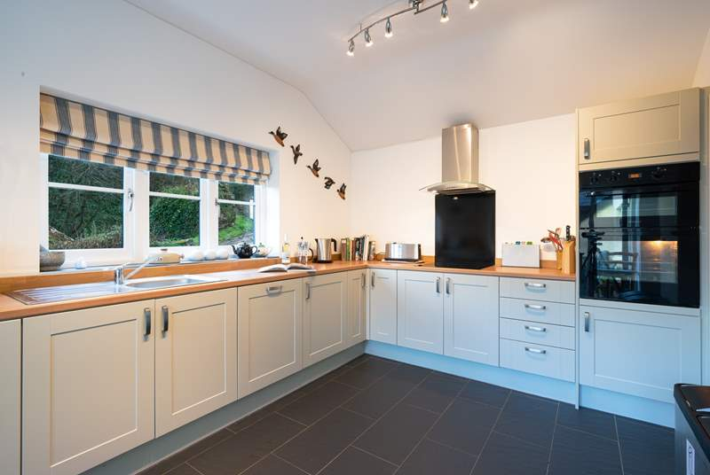 Light and airy spacious kitchen.